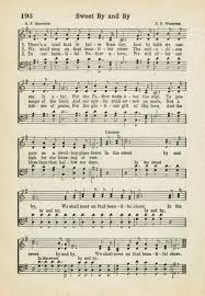 A Place Hymn Sweet By And By Printable Antique Hymn Page Songs Bible And