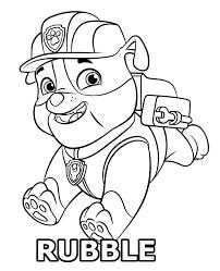 rubble coloring paw patrol