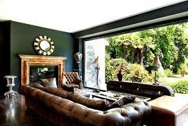 Esszimmer Arbeitszimmer Kombinieren Chesterfield Sofas Kombiniert Mit Alten Englischen Farben Und Deko