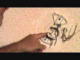 Ceiling Fan Hanging Bracket by How To Attach A Ceiling Fan Mounting Bracket Youtube