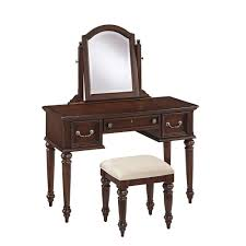 Vanity Table And Bench Set Home Styles Lafayette 3 Piece Cherry Vanity Set 5537 72 The Home