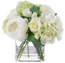 white floral arrangements blooms summer and hydrangea bouquet contemporary