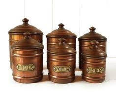 vintage french copper canister set made in portugal shop trove