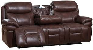 Power Reclining Sofa Summerlands Ii Brown Adjustable Headrest Power Reclining Sofa With