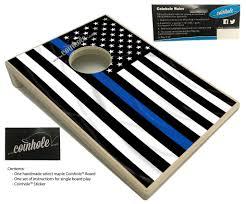 Thin Blue Line Flag Thin Blue Line Police Coinhole Board U2013 Coinhole Com