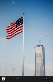 Flag Of New York City New York City May 23 2016 American Flag And One World Trade