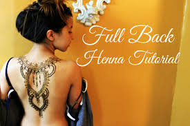 full back henna tattoo tutorial hennafly youtube