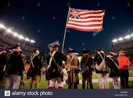 Cowboys Flag Revolutionary Patriot Reenactors Hold Flag At Gillette Stadium