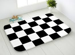 Bathroom Floor Mats Rugs 40x60cm 445x75cm Bathroom Floor Mat Black And White Checkered