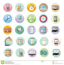icone de bureau bureau et ensemble d icône de gestion du temps illustration de