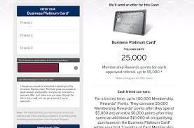 Business Platinum Card Amex Trick Get 25k Referral Bonus On Amex Biz Plat 100k Monkey Miles
