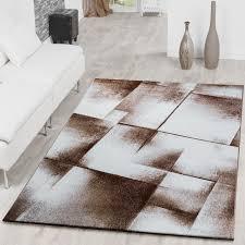 Wohnzimmer Modern Beige Designer Teppich Wohnzimmer Modern Kurzflorteppich Meliert Braun