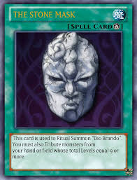 the stone mask as a yu gi oh card by playmaster96 on deviantart