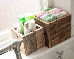 Storage Boxes Bathroom Rustic Wooden Box Bundle Gift Idea Bathroom Storage Garden