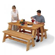 Picnic Table With Benches Plans Picnic Table And Bench Combo Plan Rockler Woodworking And Hardware