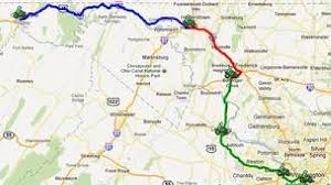 pentagon map america s 9 11 ride map friday route goes from cumberland to the