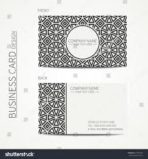 vector simple business card design template stock vector 437982286