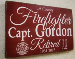 Firefighter Home Decorations Firefighter Name Sign Family Name Firefighter Decor Fireman