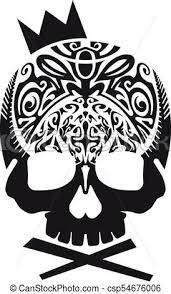 black skull with crown vector black skull in vector with