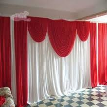 Curtain Drapes For Weddings Online Get Cheap Red Swags Backdrop Aliexpress Com Alibaba Group