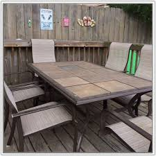 tile top patio table and chairs ceramic patio table ceramic tile top patio table tiles home