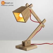 aliexpress com buy modern wood read table lamp vintage solid