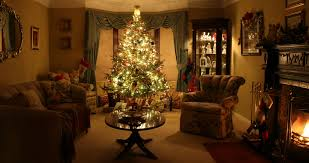 living room graceful gorgeous christmas scene background pictures