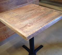 reclaimed wood restaurant table tops stunning reclaimed wood straight plank table tops u economy