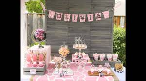 Baby Shower Decorations Ideas by Beautiful Pink Baby Shower Decor Ideas Youtube