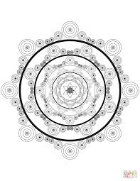 celtic mandala with circles coloring page free printable