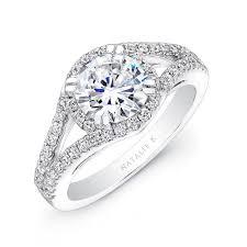 split band engagement rings 18k white gold split shank halo engagement ring nk18926