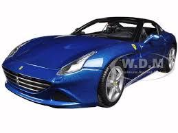 california model car california t closed top blue 1 18 diecast model car by