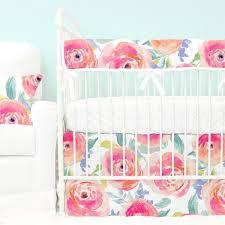 Crib Bedding Pattern Colorful Crib Bedding Bright Baby Bedding Caden