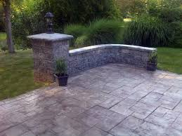 Backyard Stamped Concrete Ideas Stamped Concrete Ideas Entry Rustic With Chicago Concrete Deck
