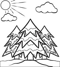 free printable christmas tree coloring kids 3