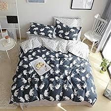 100 Cotton Queen Comforter Sets Amazon Com Bulutu Flamingo Print Cotton Full Duvet Cover Set Pink
