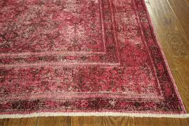 new traditional handmade overdyed 8x12 burgundy hand knotted wool