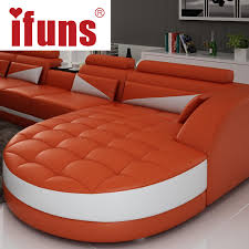 L Leather Sofa Ifuns Black White Modern European Furniture Luxury Quality