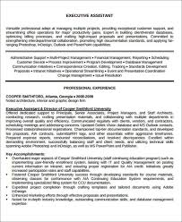 Sample Administrative Assistant Resume Objective by Executive Administrative Assistant Resume Administrative