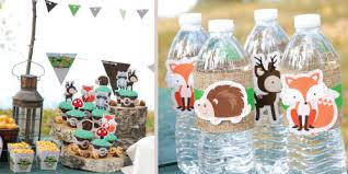 baby shower centerpieces ideas for boys woodland creatures baby shower theme bigdotofhappiness