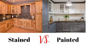 paint vs stain kitchen cabinets painted vs stained kitchen cabinets pros cons 55