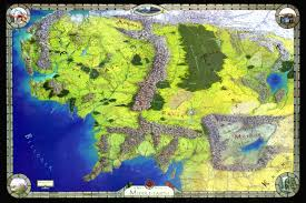 a map of middle earth size map of middle earth where should you live in middle