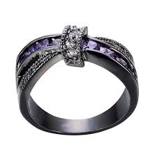 purple diamond engagement rings bamos jewelry womens purple zc promise gift rings lab for