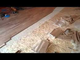 installing hardwood floor with glue on osb panels 3 hours of work