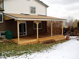 Shed Roof Over Patio by Patio Roof Deck Rooftop Deck Repairs And New Construction
