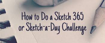 how to do a sketch 365 or sketch a day challenge creative market
