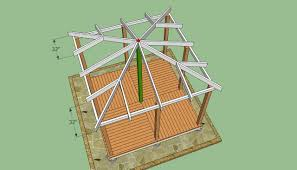 Homemade Gazebo Roof by Wooden Gazebo Plans Howtospecialist How To Build Step By Step