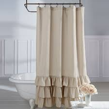 bath shower curtains and shower curtain hooks touch of class vintage ruffle shower curtain natural 72 x 72
