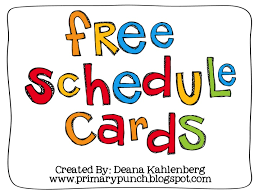 best 25 free schedule cards ideas on daily schedule