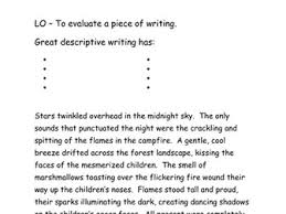 descriptive writing extracts up levelling by smartsaz teaching